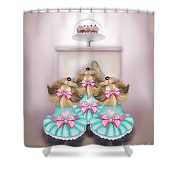 Saint Cupcakes Shower Curtain