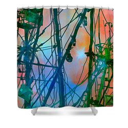 Saint Elmo's Fire Shower Curtain