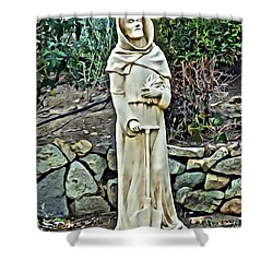 Saint Fiacre Shower Curtain
