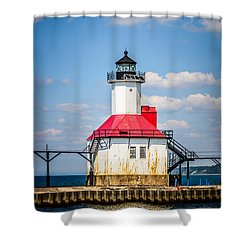 Saint Joseph Lighthouse Picture Shower Curtain by Paul Velgos