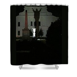 Saint Louis Cathedral Courtyard - New Orleans La Shower Curtain