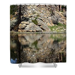 Saint Malo Chapel Shower Curtain by Shane Bechler