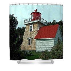 Saint Martin's Lighthouse 2 Shower Curtain by Kathleen Struckle