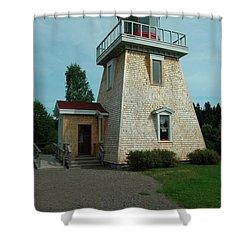 Saint Martin's Lighthouse Shower Curtain by Kathleen Struckle