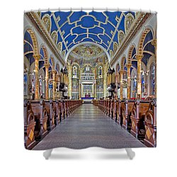 Saint Michael Catholic Church Shower Curtain by Susan Candelario