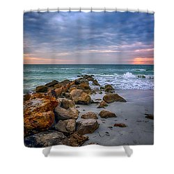 Saint Pete Beach Stormy Sunset Shower Curtain