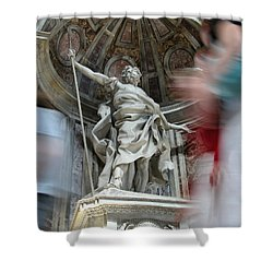 Saint Peters Traffic Shower Curtain