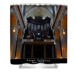 Saint Sulpice Shower Curtain by Dany Lison