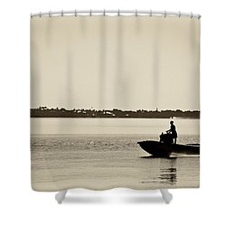 Saintlucieboating Shower Curtain by Patrick M Lynch