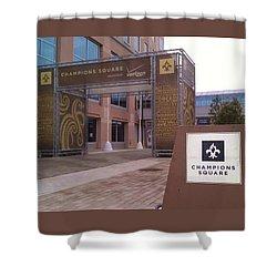 Saints - Champions Square - New Orleans La Shower Curtain by Deborah Lacoste