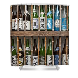 Sake Bottles Shower Curtain