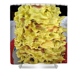 Sakotis. Lithuanian Tree Cake. Shower Curtain by Ausra Huntington nee Paulauskaite