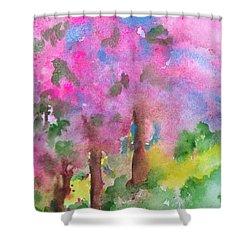 Sakura Shower Curtain by Anna Ruzsan