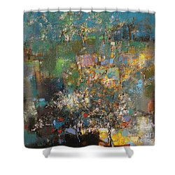 Sakura Tree Is Beautiful All Year Long Shower Curtain