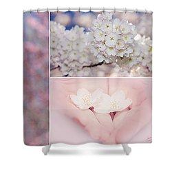Sakura Triptych Shower Curtain by Lisa Knechtel