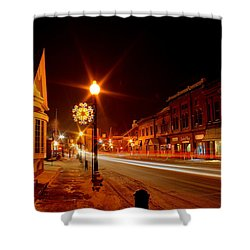 Salem Ohio Christmas Shower Curtain