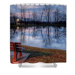 Salem Ohio Industrial Park Sunset Shower Curtain