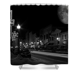 Salem Ohio Winter Moon Shower Curtain
