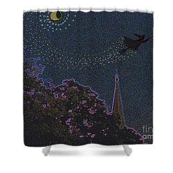 Salem Witch Moon 2 By Jrr Shower Curtain by First Star Art
