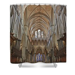 Salisbury Cathedral Quire And High Altar Shower Curtain by Terri Waters