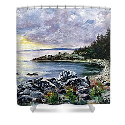 Salisbury Cove Shower Curtain by Lee Piper