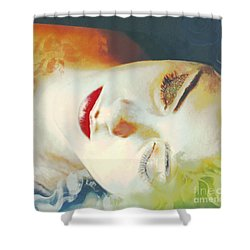 Sally Sleeps Shower Curtain