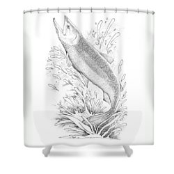 Salmon Shower Curtain