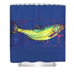 Salmon Of Knowledge Shower Curtain by Derrick Higgins