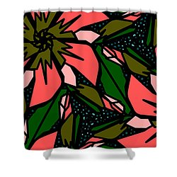Shower Curtain featuring the digital art Salmon-pink by Elizabeth McTaggart
