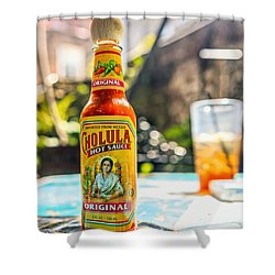 Salsa Caliente Shower Curtain