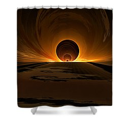 Salsa Sunrise Shower Curtain