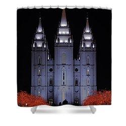 Salt Lake Christmas Shower Curtain