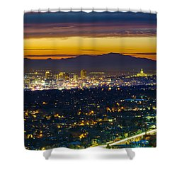 Salt Lake City At Dusk Shower Curtain