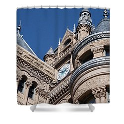 Shower Curtain featuring the photograph Salt Lake City - City Hall - 1 by Ely Arsha