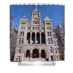 Shower Curtain featuring the photograph Salt Lake City - City Hall - 2 by Ely Arsha