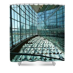 Shower Curtain featuring the photograph Salt Lake City Library by Ely Arsha