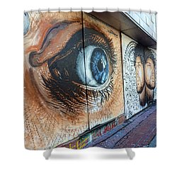 Shower Curtain featuring the photograph Salt Lake City - Mural 1 by Ely Arsha
