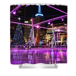 Shower Curtain featuring the photograph Salt Lake City - Skating Rink - 2 by Ely Arsha