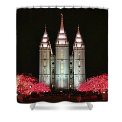 Shower Curtain featuring the photograph Salt Lake Temple - 1 by Ely Arsha