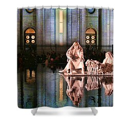 Shower Curtain featuring the photograph Salt Lake Temple - 2 by Ely Arsha