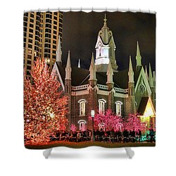 Shower Curtain featuring the photograph Salt Lake Temple - 3 by Ely Arsha