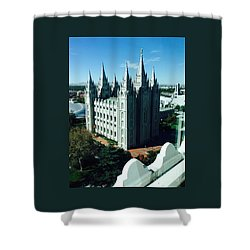 Salt Lake Temple The Church Of Jesus Christ Of Latter-day Saints The Mormons Shower Curtain by Richard W Linford