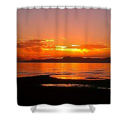 Salt Lakes A Fire Shower Curtain