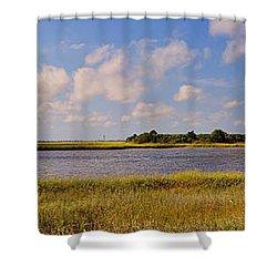 Salt Marsh Morning - Southport Shower Curtain