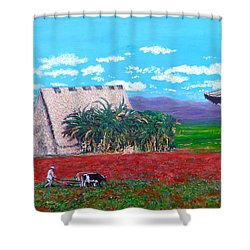 Salt Of The Earth Shower Curtain by Tom Roderick