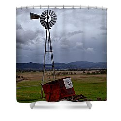 Salt Springs Windmill Shower Curtain