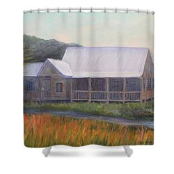 Saltwater Cowboys Shower Curtain