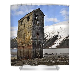 Saltwater Pump House Shower Curtain by Cathy Mahnke