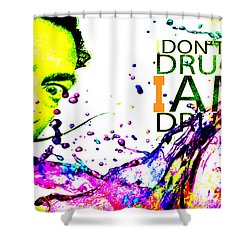 Salvador Dali Pop Art Shower Curtain