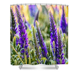 Salvia Sway Shower Curtain